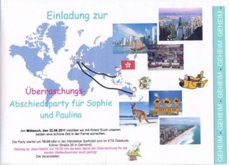 noch in deutschland « schuljahr in hong kong, Einladung